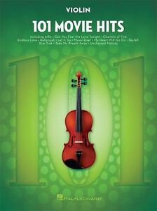Details about 101 Movie Hits For VIOLIN Learn to Play Pop Rock Chart Film  Songs MUSIC BOOK