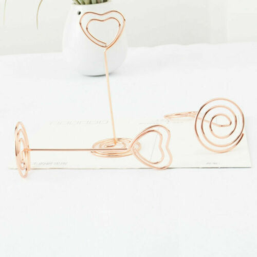 Table Number Stands Place Card Holder Name Photo Clips Wedding Favor Clips Heart