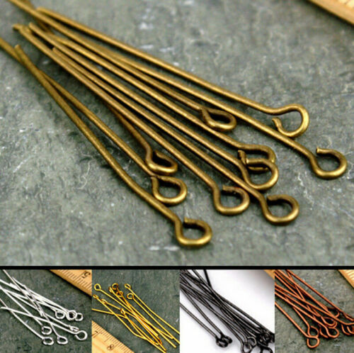 100//50PCS Silver Gold Plated Ball Head Pins 16//20//30//40//50//60mm Jewelry Finding