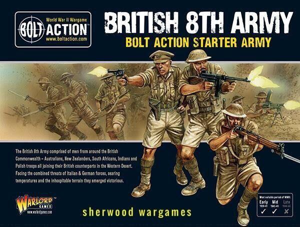 28mm Warlord Games British 8th Army Army Army Starter Army, Bolt Action WWII BNIB 3a06d7