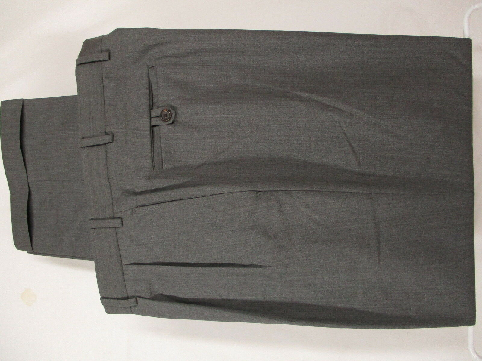 Brooks Bredhers Country Club Mens Grey Pleated Wool Dress Pants 37x33