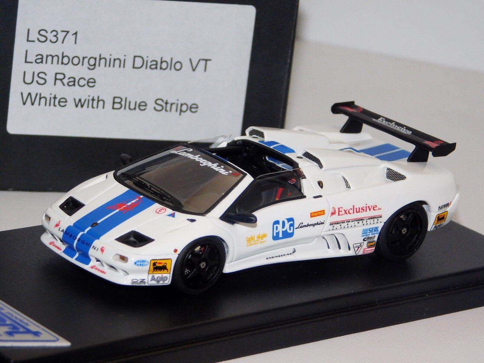 LAMBORGHINI DIABLO VT US RACE VITE   blå STRIPER LOCKSMkonst LS371  43