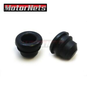 2x Black Push-In Steel Breather /& 2 Grommet For Valve Covers Universal Fit 1.25/""