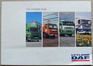 LEYLAND DAF THE COMPLETE RANGE Trucks Sales Publicity Brochure Apr 1991 #L001D
