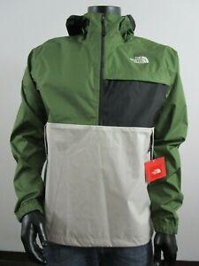 Mens-TNF-The-North-Face-Karakum-Dryvent-Waterproof-PO-Hooded-Rain-Jacket-Green