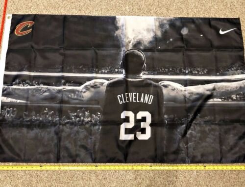 LeBron James Flag FREE SHIPPING Cleveland Cavaliers 3x5 Digital Print Banner New