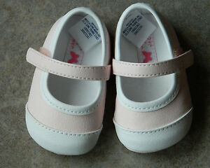 Shoes Janie and Jack pink and white crib shoes,NWT,sz.1,2,3