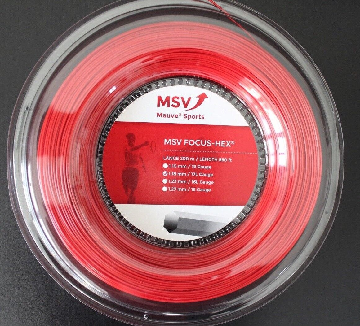 m MSV Focus Hex 200 m m m Rolle Farbe Rot  ø 1.18, 1.23, 1.27 mm 86bedc