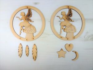 Pain MDF personalise Dream Catcher Mermaid Embellish Make Your Own Colour