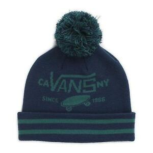 30d9c95a96b Vans Off The Wall Full Patch Pom Cuff Wicking Beanie Blue Green Mens ...