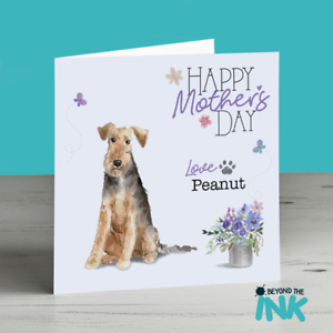 Mothers Day Card From The Dog Mum Mam Mom Fur Baby Welsh Terrier