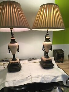 Pair-Of-Antique-Quality-Marble-Bronze-Table-Lamps