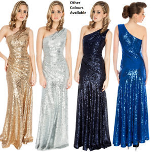 Goddiva-Long-Sequin-One-Shoulder-Evening-Maxi-Gown-Dress-Prom-Ball-Party-8-14