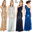 Goddiva-Long-Sequin-One-Shoulder-Evening-Maxi-Gown-Dress-Prom-Ball-Party-8-14 thumbnail 1