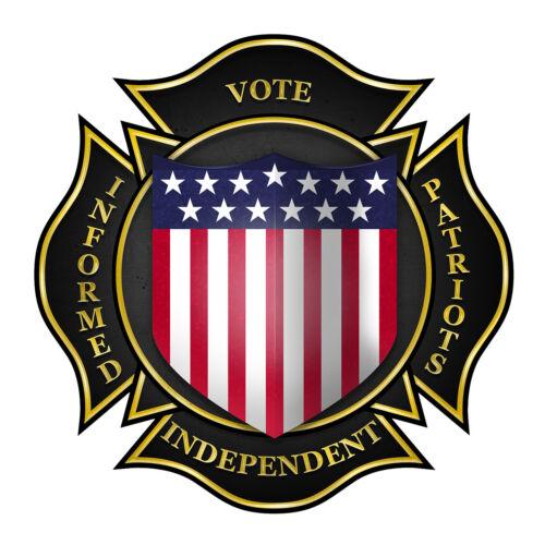 INFORMED PATRIOTS VOTE INDEPENDENT Bumper Sticker INFORMED PATRIOTS SCOREBOARD