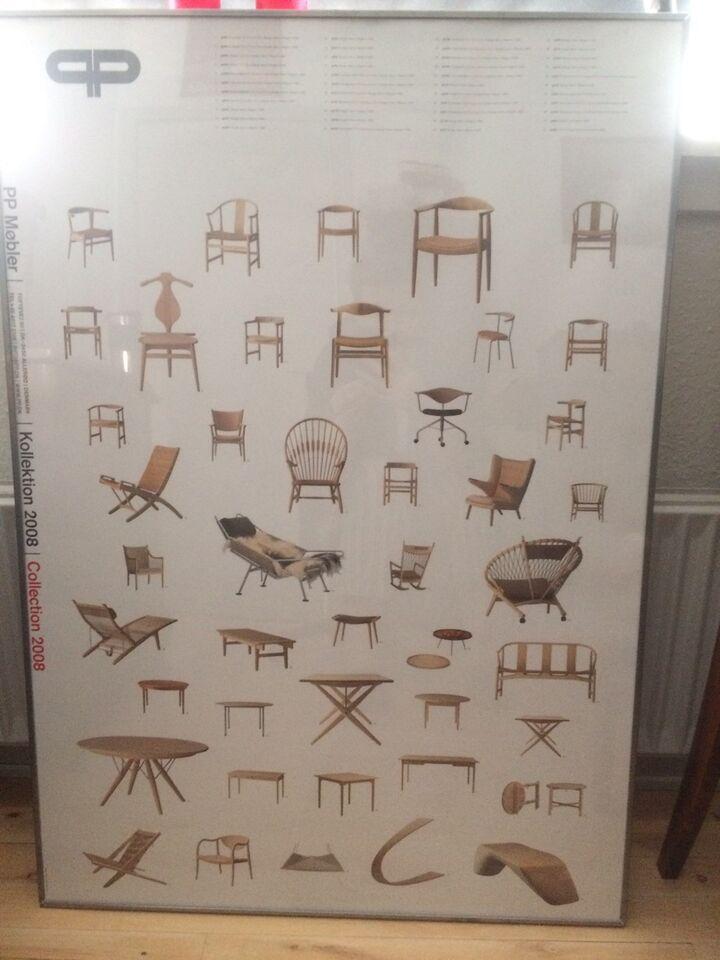 Indrammet plakat, Wegner, motiv: PP møbler