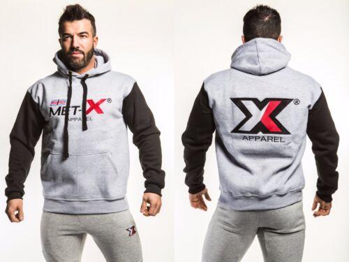 Met-x Uomo in Pile con Cappuccio muscolare Top Fitness Felpa con cappuccio Maglione S M L XL