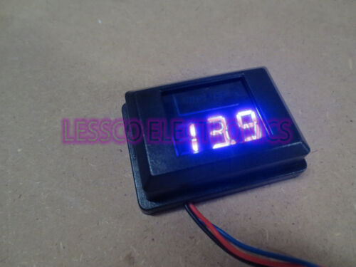 24v Digital Readout Blue LED 12Volt Volt Meter Impulse IMP-12VM-B Custom 12v