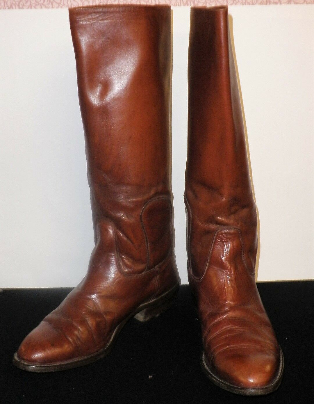 Vintage Gents Australian Made Ian Harold Leather Oxblood Polo Riding Boots