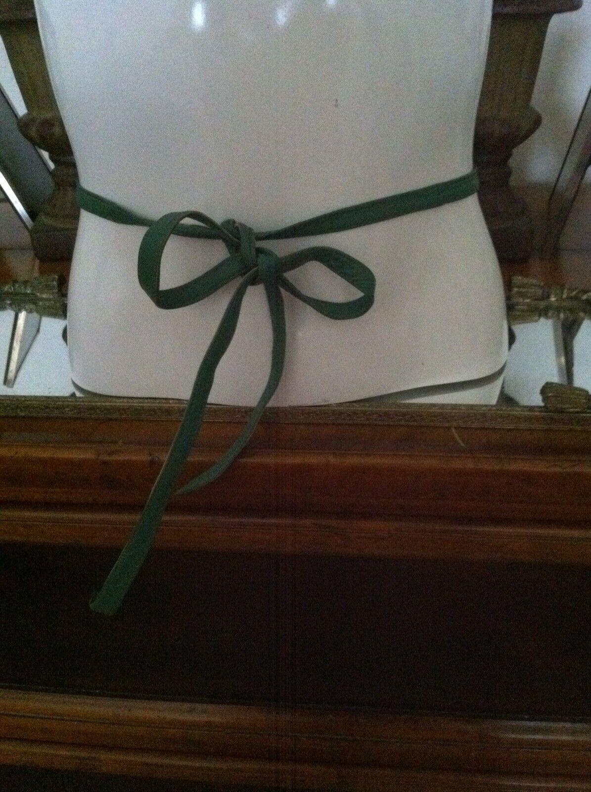 Vtg 1960's Bonnie Cashin Green Tie Belt - image 1