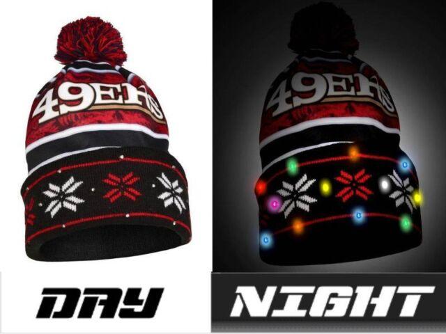 1b594846fda NFL LED Light up Big Logo Winter Christmas Beanie Forever ...