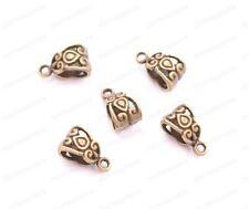 20/50/100Pcs Tibetan Silver/Gold Charm Pendant Bail Connector Bead 5MM JK3030