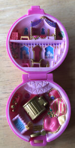 Vintage-Polly-Pocket-Bluebird-Doll-1992-Jeweled-Palace-Compact-Case-Only