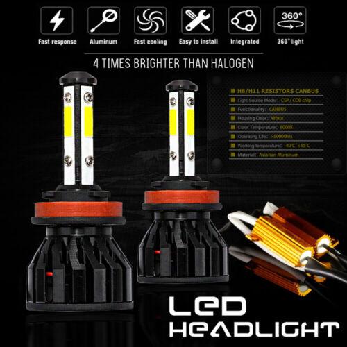Kit Bulbs H11 LED Fog Light Canbus Bright 80W 6000K White Audi A4 B8 8K 08-15