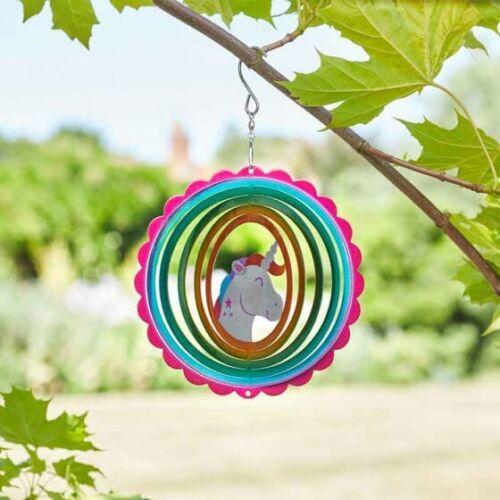 Lovely Bright Colourful Unicorn Glitter Wind Spinner Garden Spinner Smart Garden