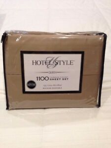 Wal-Mart Stores Inc Queen Set, Soft Silver 1100 Thread Count Sheet Set with Pillowcases