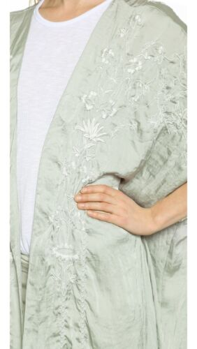 Details about  /Free People Sweet Sunrise Embroidered Kimono Duster Robe Pale Blue Combo