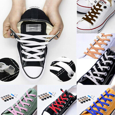 Canvas Sport Quick Shoelace No Tie Quick Easy Sneaker Lazy Shoelaces Elasticity
