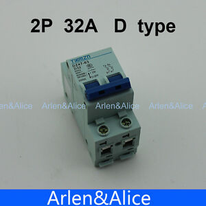 2P 32A D type 240V/415V 50HZ/60HZ Circuit breaker MCB safety breaker