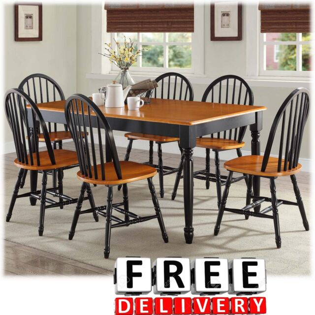 Dining Table Chairs 7 Piece Room Kitchen Furniture Set Wood Modern Contemporary & Dining Table And Chairs Room 5 Piece Wood Modern Contemporary Living ...