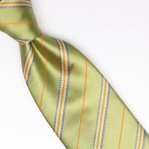 784fbc7a4601 Image is loading Josiah-France-Mens-Silk-Cotton-Necktie-Green-Orange-