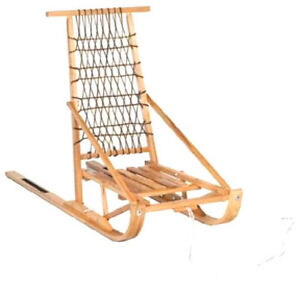 FOLDING-WOODEN-SNOW-DOG-SLED-FREE-SHIPPING-USA-AND-CANADA-CDA