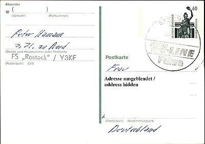 Briefmarken Zuversichtlich Schiffsstempel Ts-linie Fähre Ab Sassnitz Schiff Fs Rostock A/ Bund Ganzsache