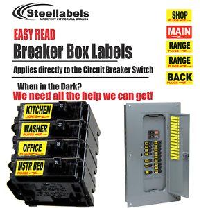 Circuit Breaker Labels for Home and Shop Electrical Box \