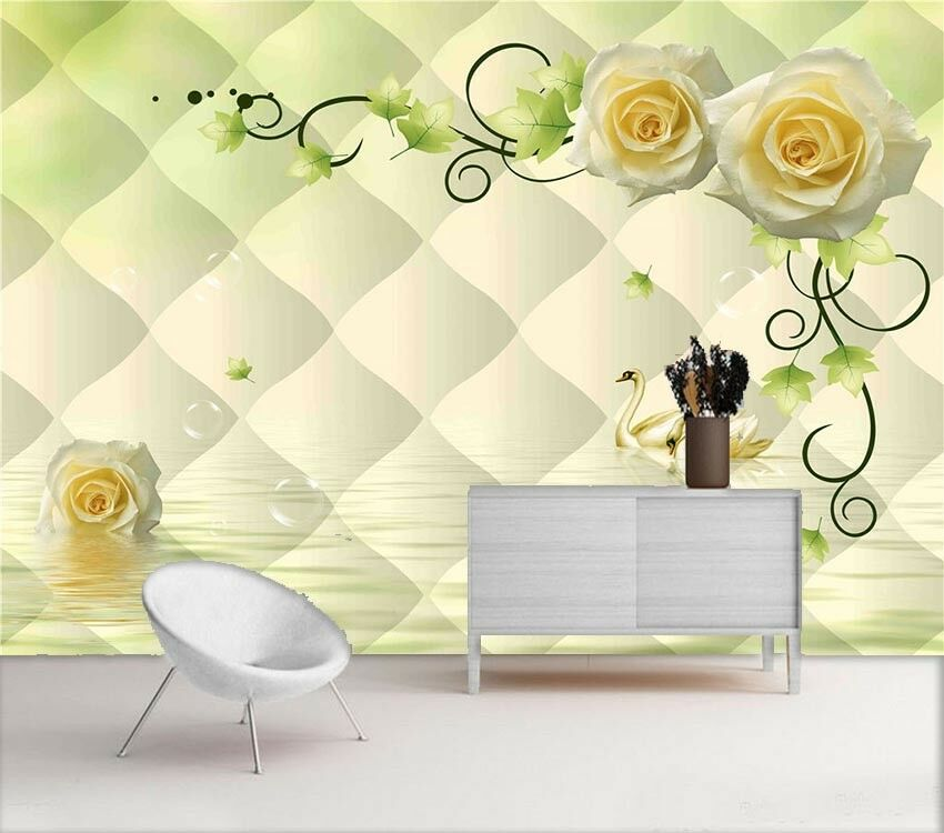 Soft Preceding Peach 3D Full Wall Mural Photo Wallpaper Printing Home Kids Decor