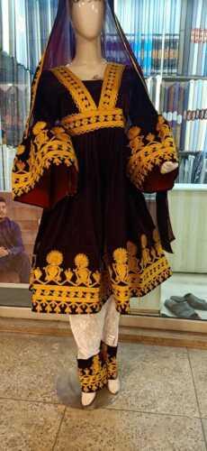 Afghan Kuchi Dress Velvet Handmade Afghani Dress With Mashri Work Afghan Tr