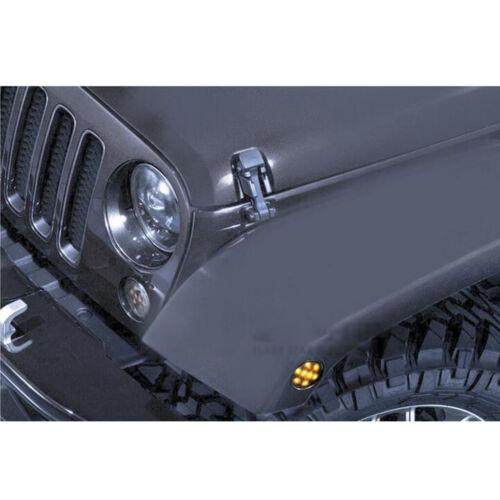 2PCS Black Lens Front Fender LED Marker Lights for Jeep Wrangler JK 07-16