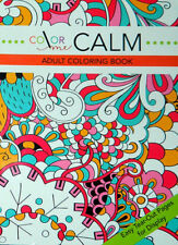 Color Me Calm Adult Coloring Book 48 Pages Front Design De Stress Relax