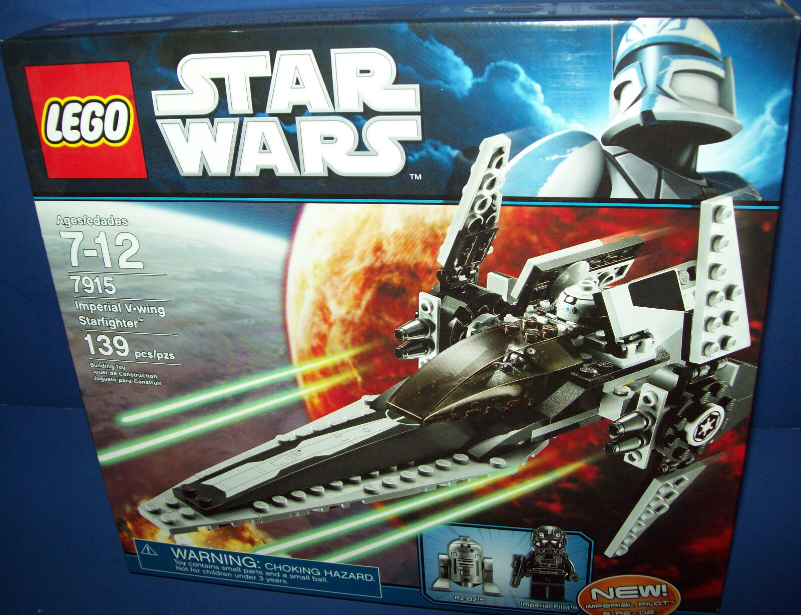 LEGO 7915 STAR WARS - IMPERIAL V-WING STARFIGHTER NEW in BOX RetiROT