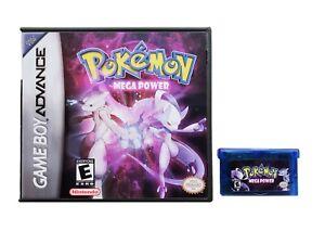 Pokemon-Mega-Power-Game-Case-Game-Boy-Advance-GBA-Fan-Made-Mod-USA-Seller