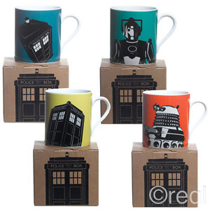 New-Doctor-Who-TARDIS-Cyberman-amp-Dalek-Boxed-Mug-Cup-Tea-Coffee-Modern-Official