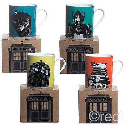 New Doctor Who TARDIS Cyberman & Dalek Boxed Mug Cup Tea Coffee Modern Official