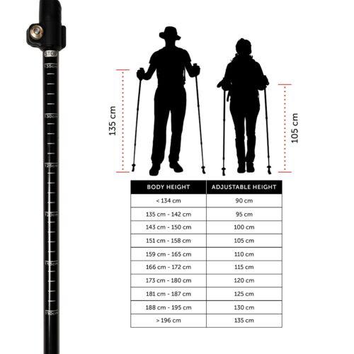 TYTN Aero Walking Poles-7075 Aluminium for Hiking Nordic Walking /& Outdoor Use