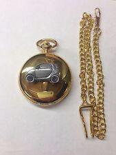 Smart Car ref240 Pewter Effect emblem gold quartz pocket watch