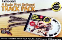 Bachmann N Scale Train E-Z Track System Nickel Silver Gray WGH First Railroad Track Pack 44896 Toys
