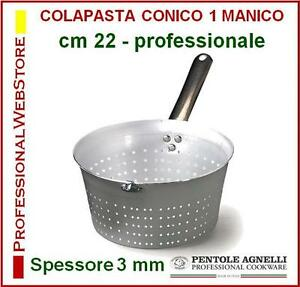 SCALDA-PASTA-CONICO-COLINO-COLA-PASTA-COLAPASTA-ALLUMINIO-CM-22-AGNELLI-1-MANICO